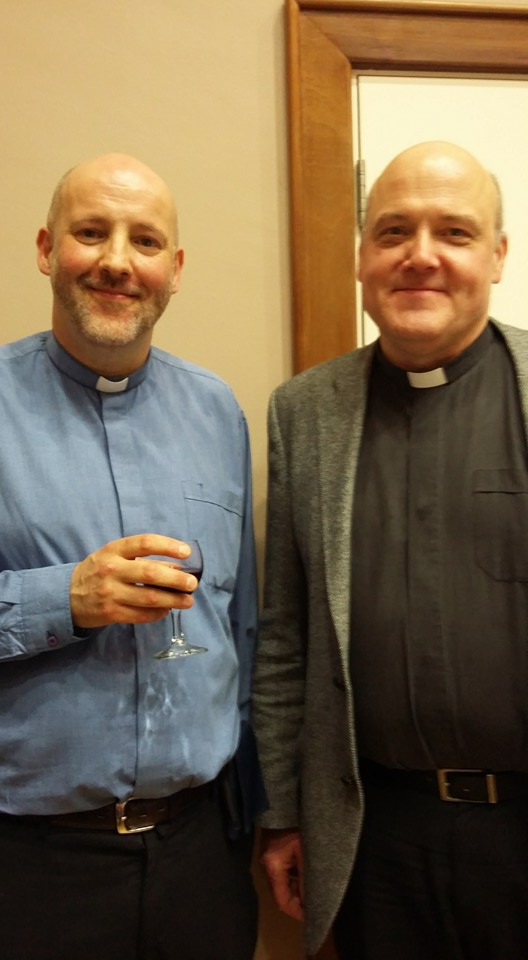 The Revd Brian Stewart with the Revd Iain Jamieson